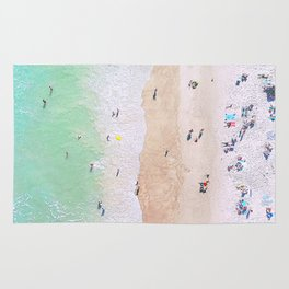 aerial beach III Rug