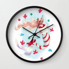 Holiday Mermaid Wall Clock