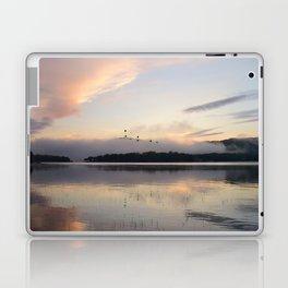 Lifting Up: Geese Rise at Dawn on Lake George Laptop & iPad Skin