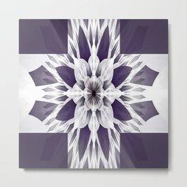 Elegant Purple Fractal Metal Print