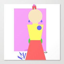 Sasha Velour Geometric Canvas Print