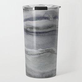 Watercolor Agate in Gray Travel Mug