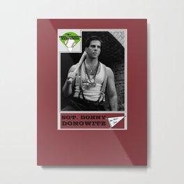Donowitz Ball Card Metal Print