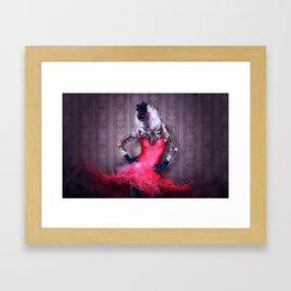 Miss Red Framed Art Print