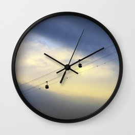 PHOTOGRAPHY / CABLE CAR IN THE SKY 01 Wall Clock
