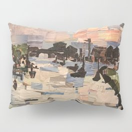 """Lake Erie Marina"" in Cut Paper by Willowcatdesigns Pillow Sham"