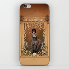 The Amazing Tattooed Lady iPhone & iPod Skin