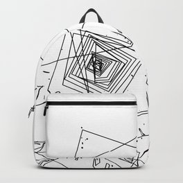 Mountain Vertices, Mt. Hood, Black Geometric Backpack