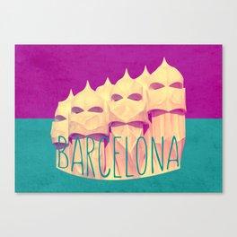 Barcelona Gaudi's Paradise Canvas Print