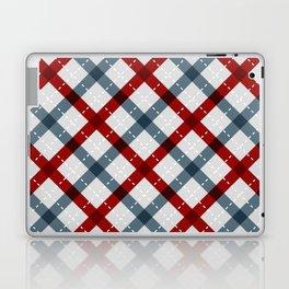 Colorful Geometric Strips Pattern - Kitchen Napkin Style Laptop & iPad Skin