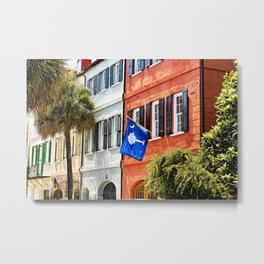 Palmetto and Crescent Moon Metal Print