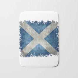 Flag-of-Scotland-in-vintage-retro-style Bath Mat