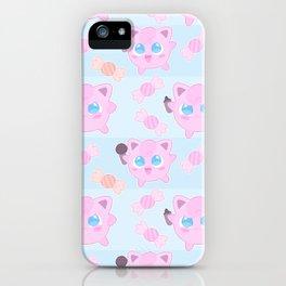 Jigglypuff pattern iPhone Case