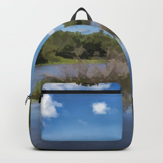 River Landscape Backpack