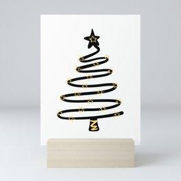 Abstract Christmas Tree Mini Art Print