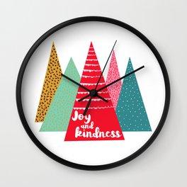 Joy and Kindness Holiday Wall Clock