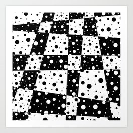 Holes In Black And White Art Print