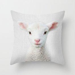 Lamb - Colorful Throw Pillow