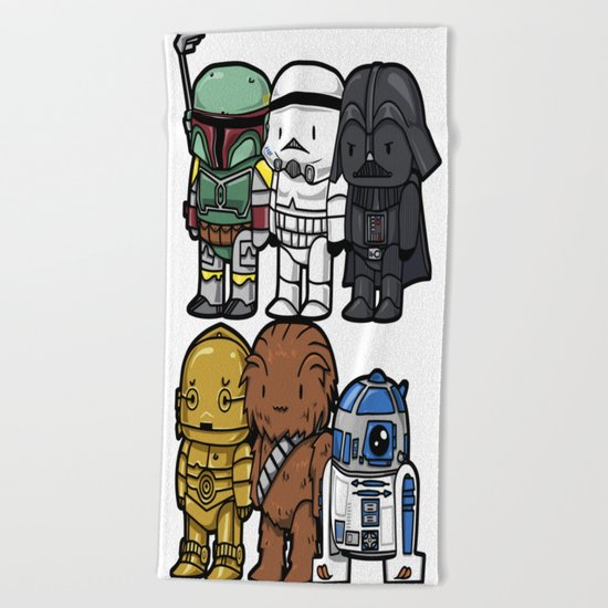 Star Wars Cute Cartoons Beach Towel