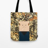 percy jackson Tote Bags featuring Jackson  by Macu