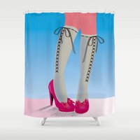 socks Shower Curtains featuring Socks by Heidi Sturgess