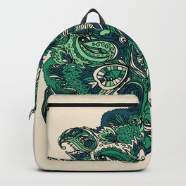 Green Indian Mandala Backpack