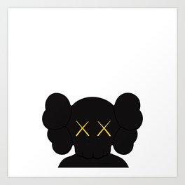 KAWS - Companion Black Art Print