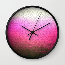 pink sparkle Wall Clock