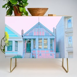 San Francisco Painted Lady Victorian House Credenza