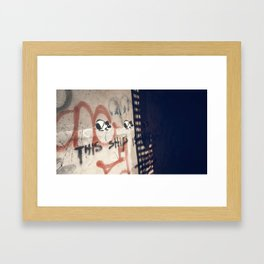 This Ship Is Sinking Framed Art Print