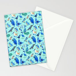 Blue Birds Stationery Cards