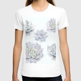 Blue Succulents T-shirt