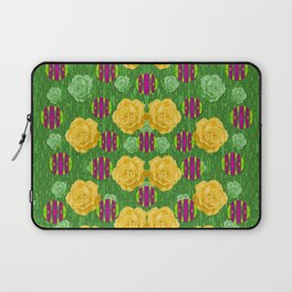 roses dancing on a tulip field of festive colors Laptop Sleeve