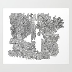 Squigglies Art Print