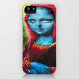 Blue Mona iPhone Case