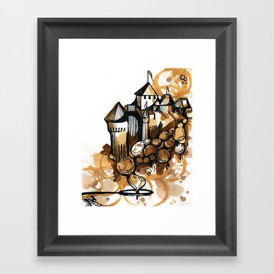 Castle float Framed Art Print