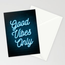 Good Vibes Only - Neon Stationery Cards