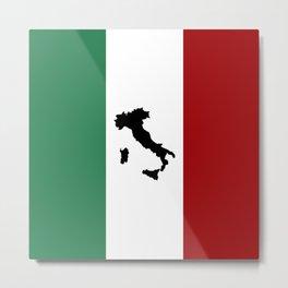 Italian Flag & Boot Metal Print