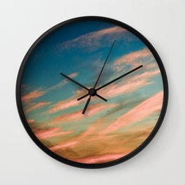 Gold Clouds Wall Clock