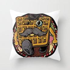 Distinguished Waffleman. Throw Pillow