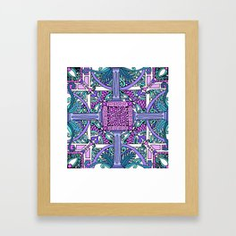 HELLENIC MIDNIGHT Framed Art Print