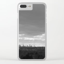 Light on Toronto from out of the Clouds Clear iPhone Case