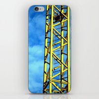 crane iPhone & iPod Skins featuring Crane by Annabies