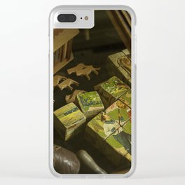 Antique Children's Toys On Show Clear iPhone Case