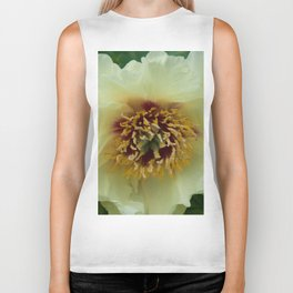 Yellow Tree Peony by Teresa Thompson Biker Tank