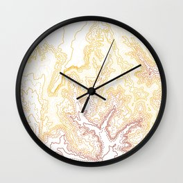 Contour Map of Bryce Canyon, Utah Wall Clock