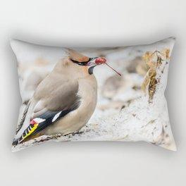 Bohemian waxwing Rectangular Pillow