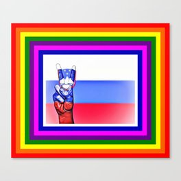 Slovenia World Peace Flag Canvas Print