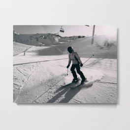 skier Alps Metal Print