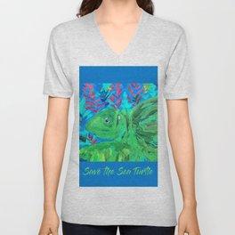 Save the Sea Turtle Unisex V-Neck